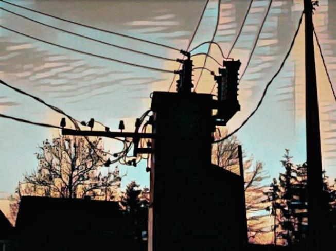 Уличная энергосеть.