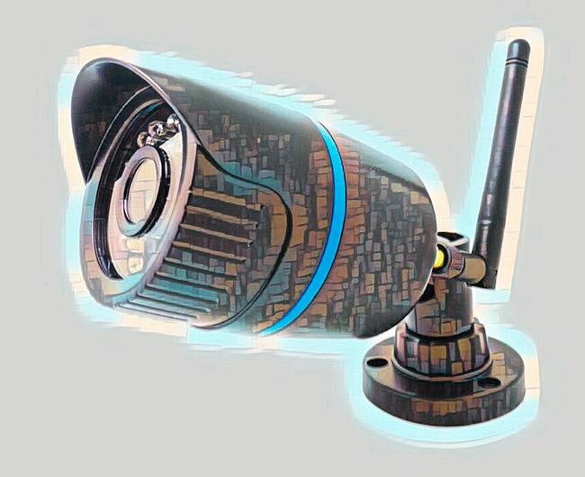 Уличная вай фай камера наблюдения с антенной