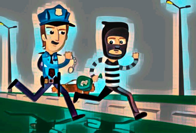 Поймать преступника с помощью системы видеонаблюдения.