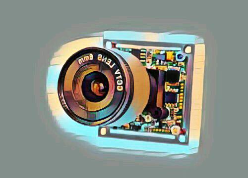 Модуль с объективом камеры видеонаблюдения