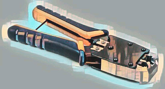 Инструмент для обжима RJ45 кримпер