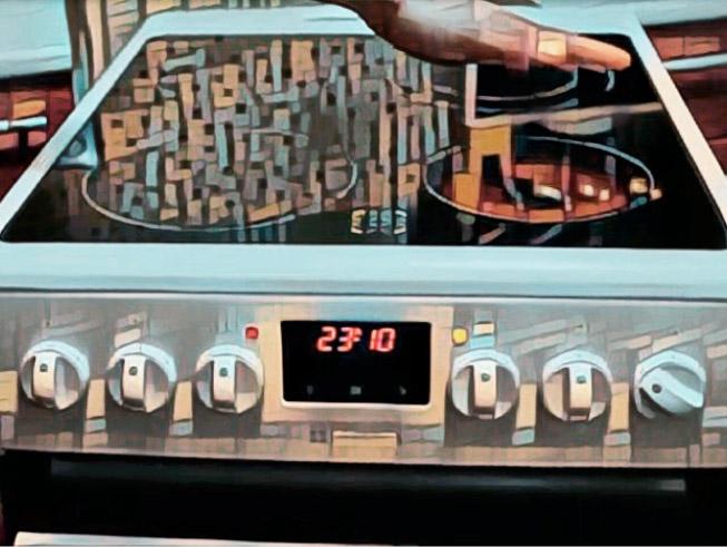 Правильно подключенная и работающая электро плита.