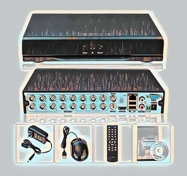 Комплектация регистратора для видеонаблюдения